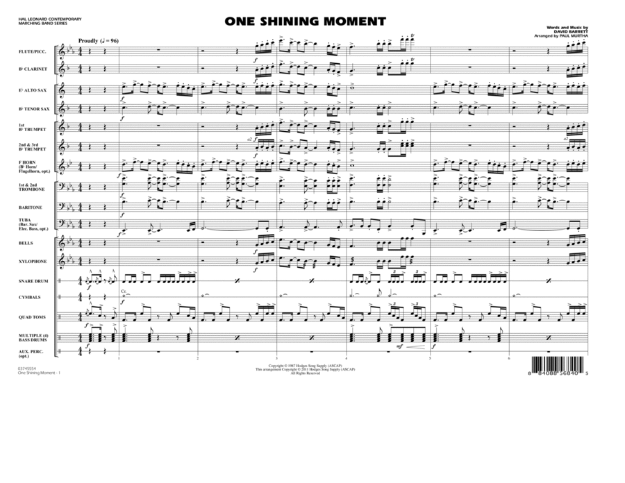 One Shining Moment - Conductor Score (Full Score)