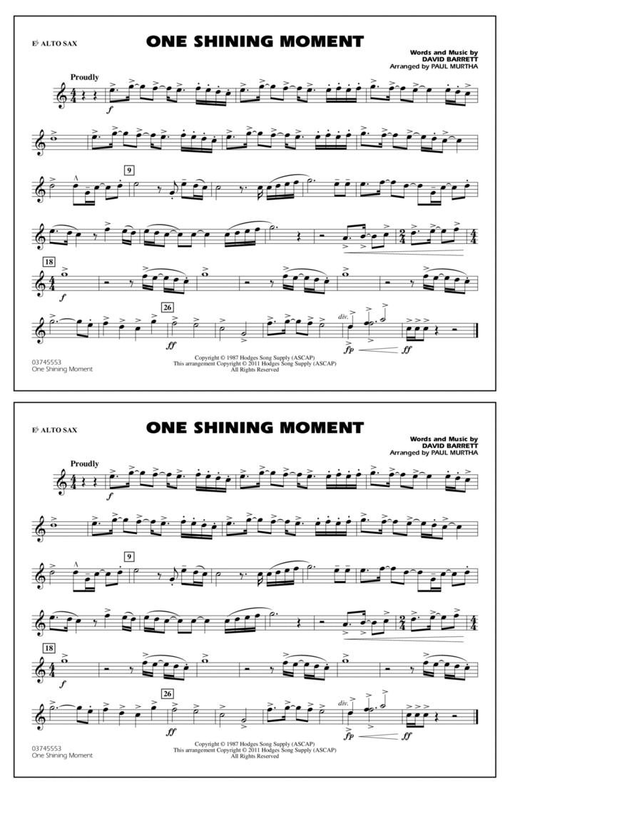 One Shining Moment - Eb Alto Sax