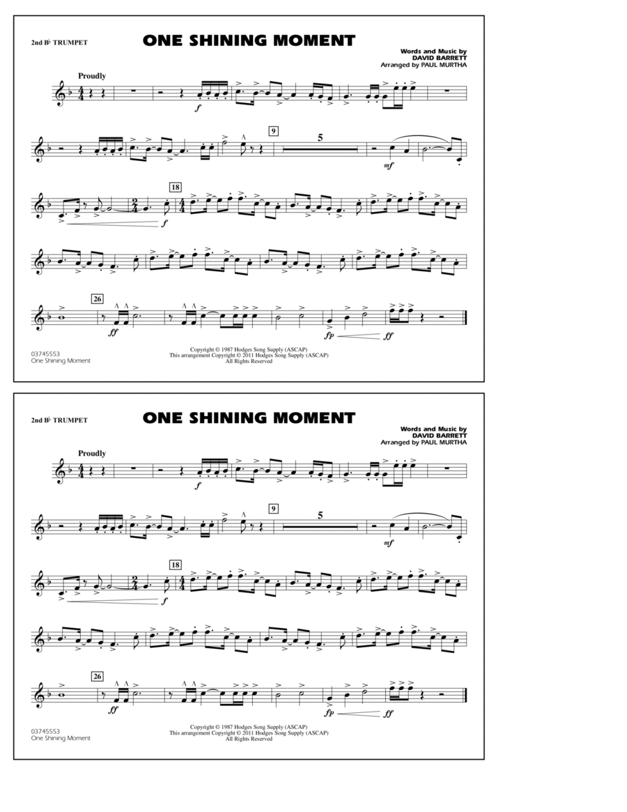 One Shining Moment - 2nd Bb Trumpet