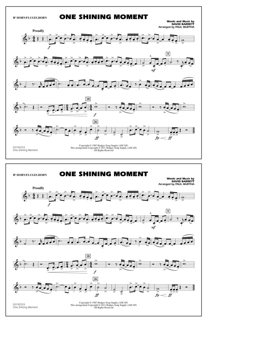 One Shining Moment - Bb Horn/Flugelhorn