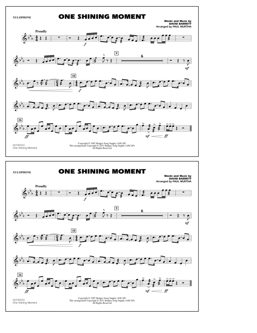 One Shining Moment - Xylophone