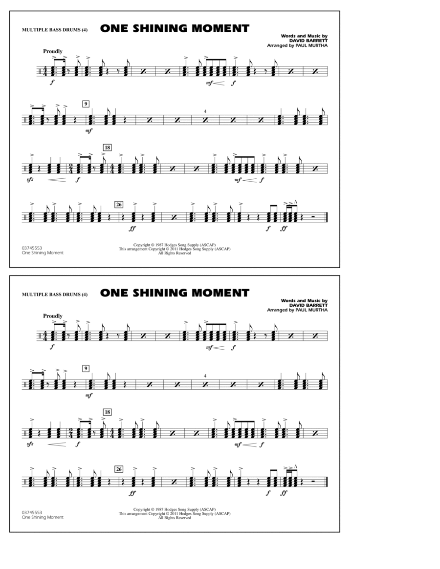 One Shining Moment - Multiple Bass Drums