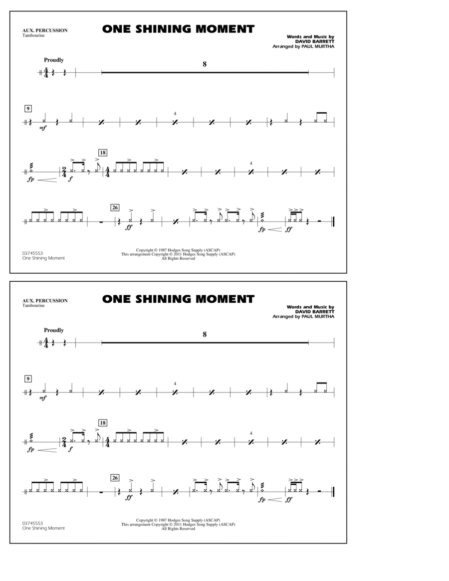 One Shining Moment - Aux Percussion