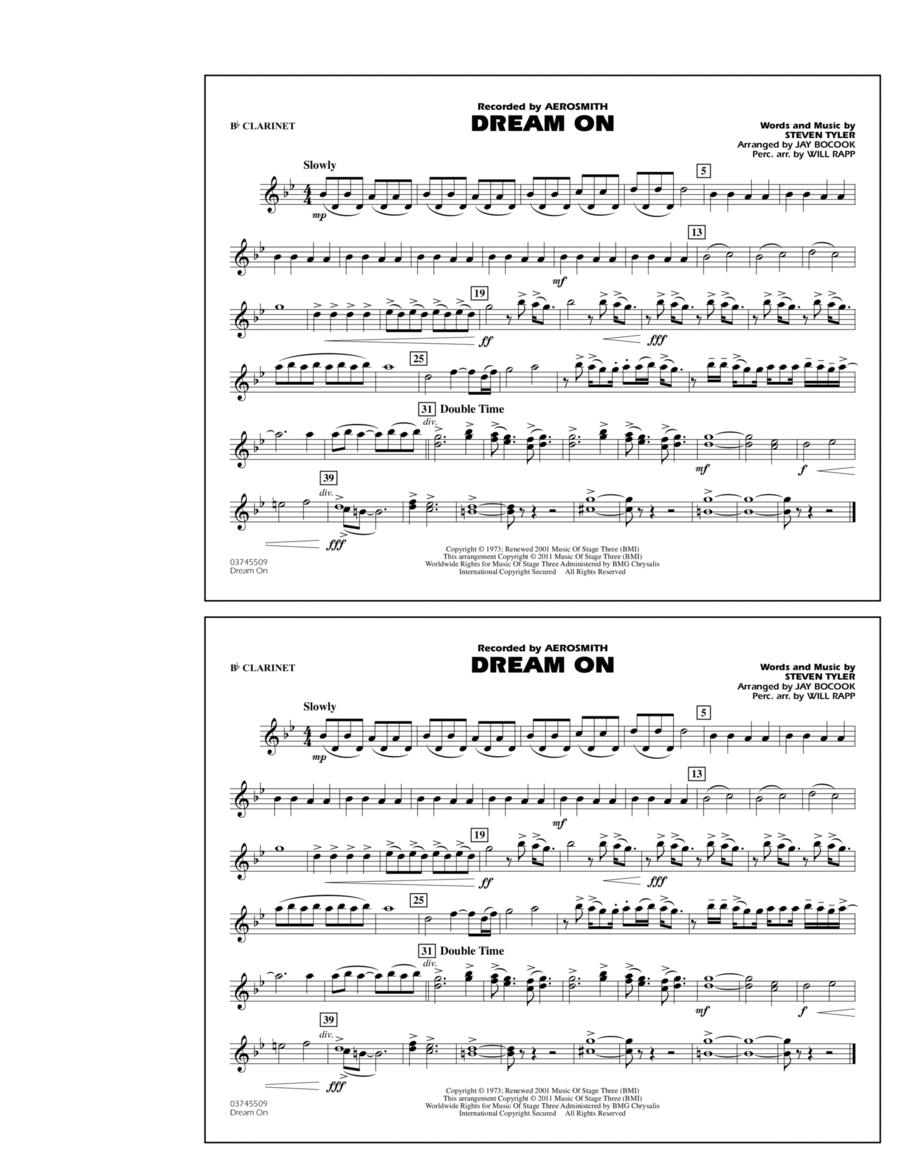 Dream On - Bb Clarinet