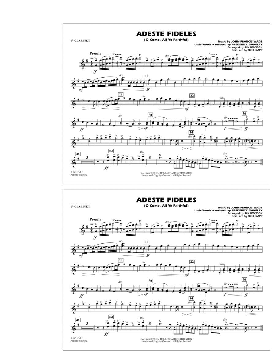 Adeste Fideles (O Come, All Ye Faithful) - Bb Clarinet
