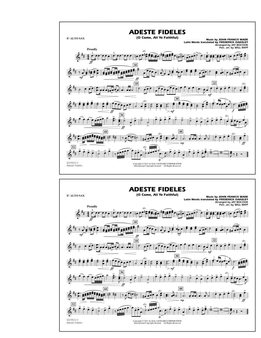 Adeste Fideles (O Come, All Ye Faithful) - Eb Alto Sax