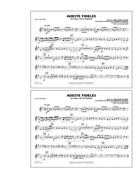 Adeste Fideles (O Come, All Ye Faithful) - 2nd Bb Trumpet