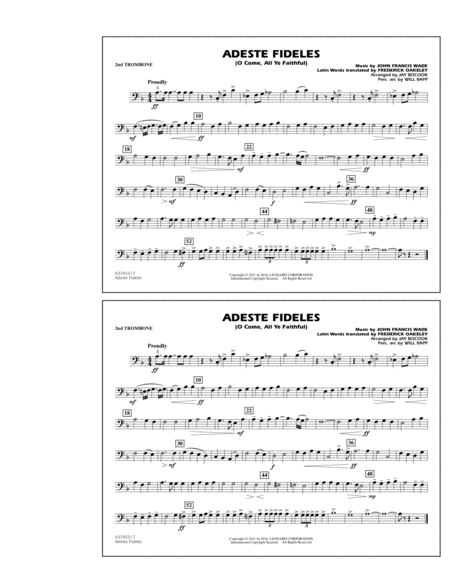 Adeste Fideles (O Come, All Ye Faithful) - 2nd Trombone