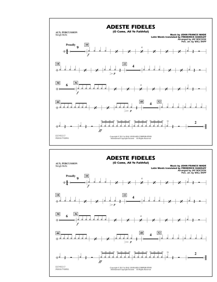 Adeste Fideles (O Come, All Ye Faithful) - Aux Percussion
