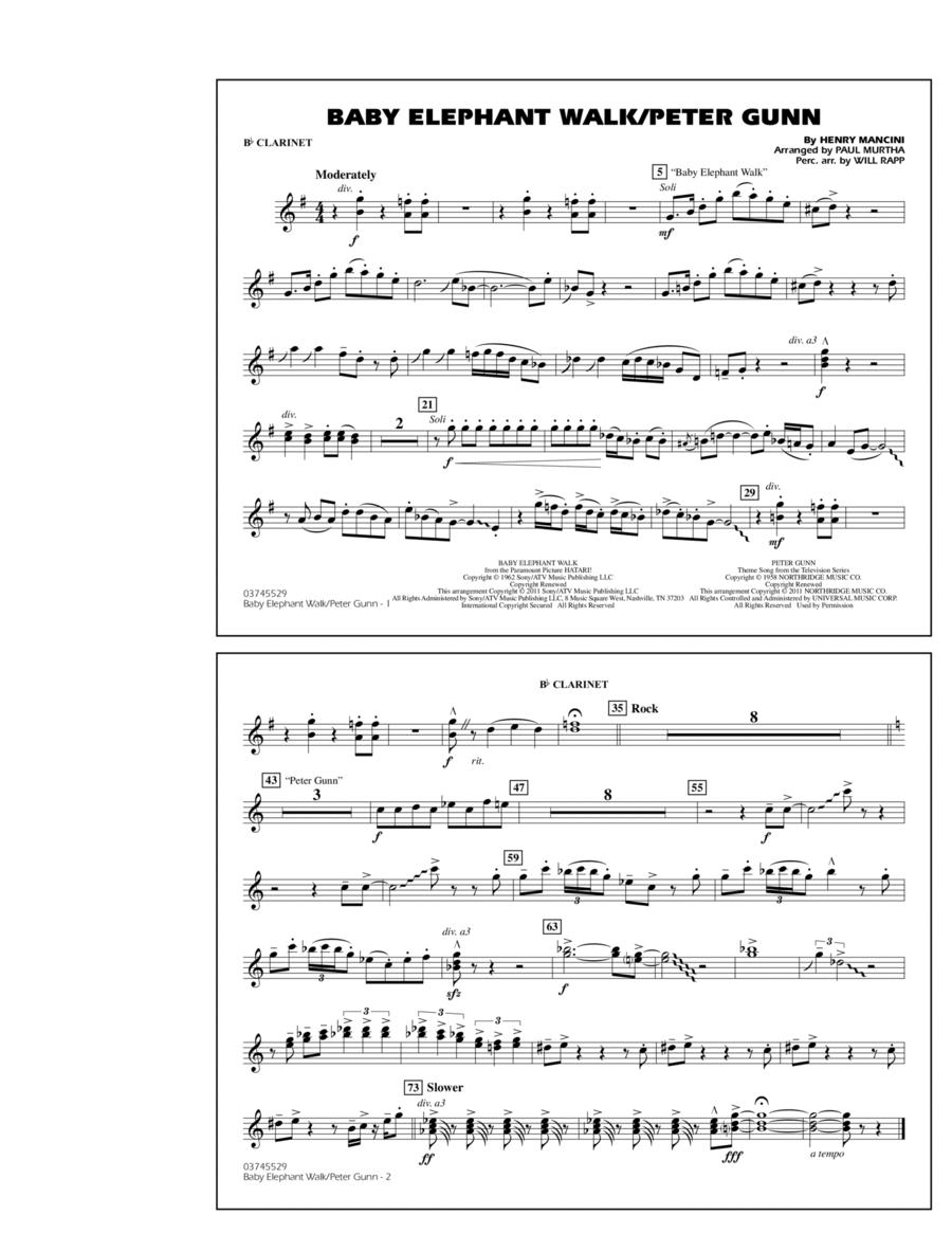 Baby Elephant Walk/Peter Gunn - Bb Clarinet