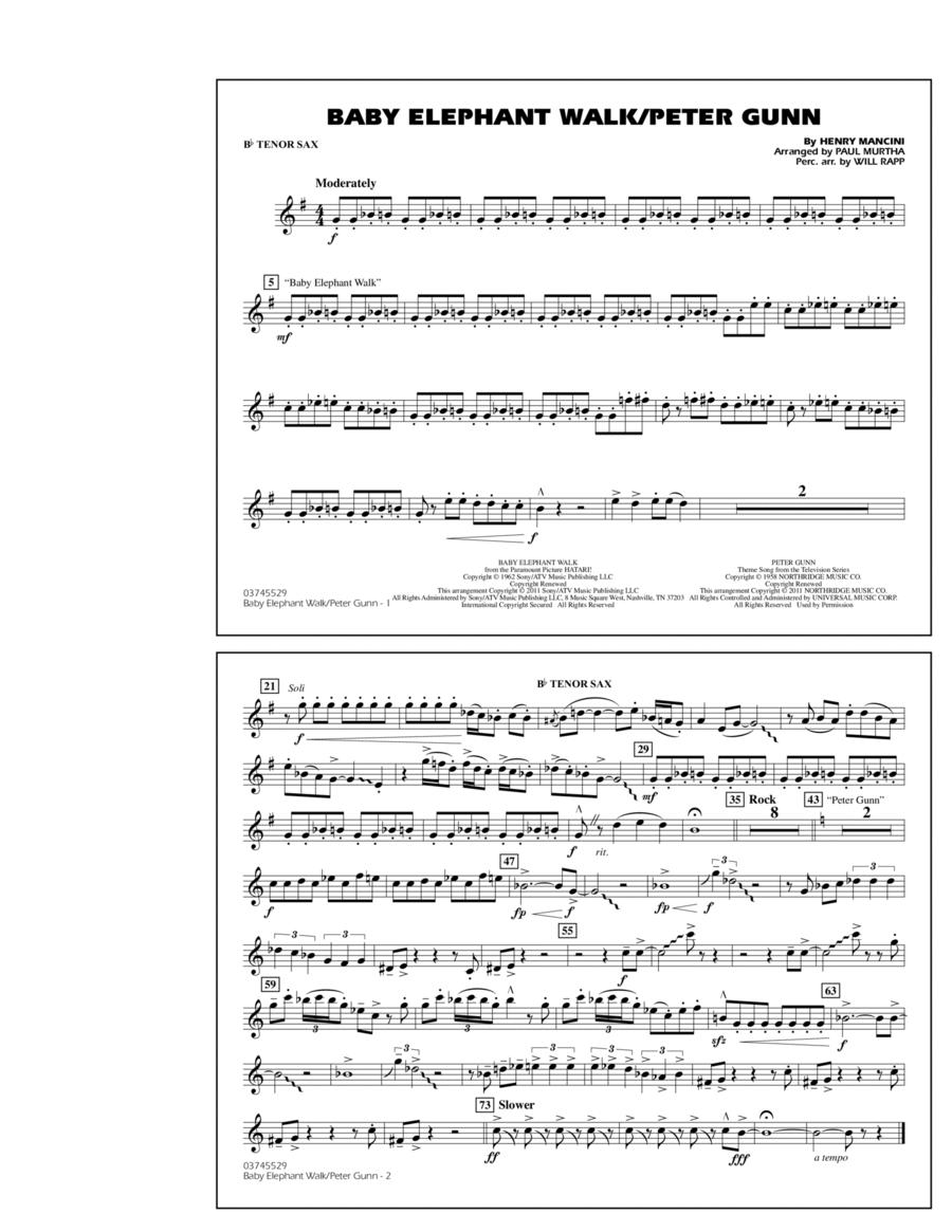 Baby Elephant Walk/Peter Gunn - Bb Tenor Sax