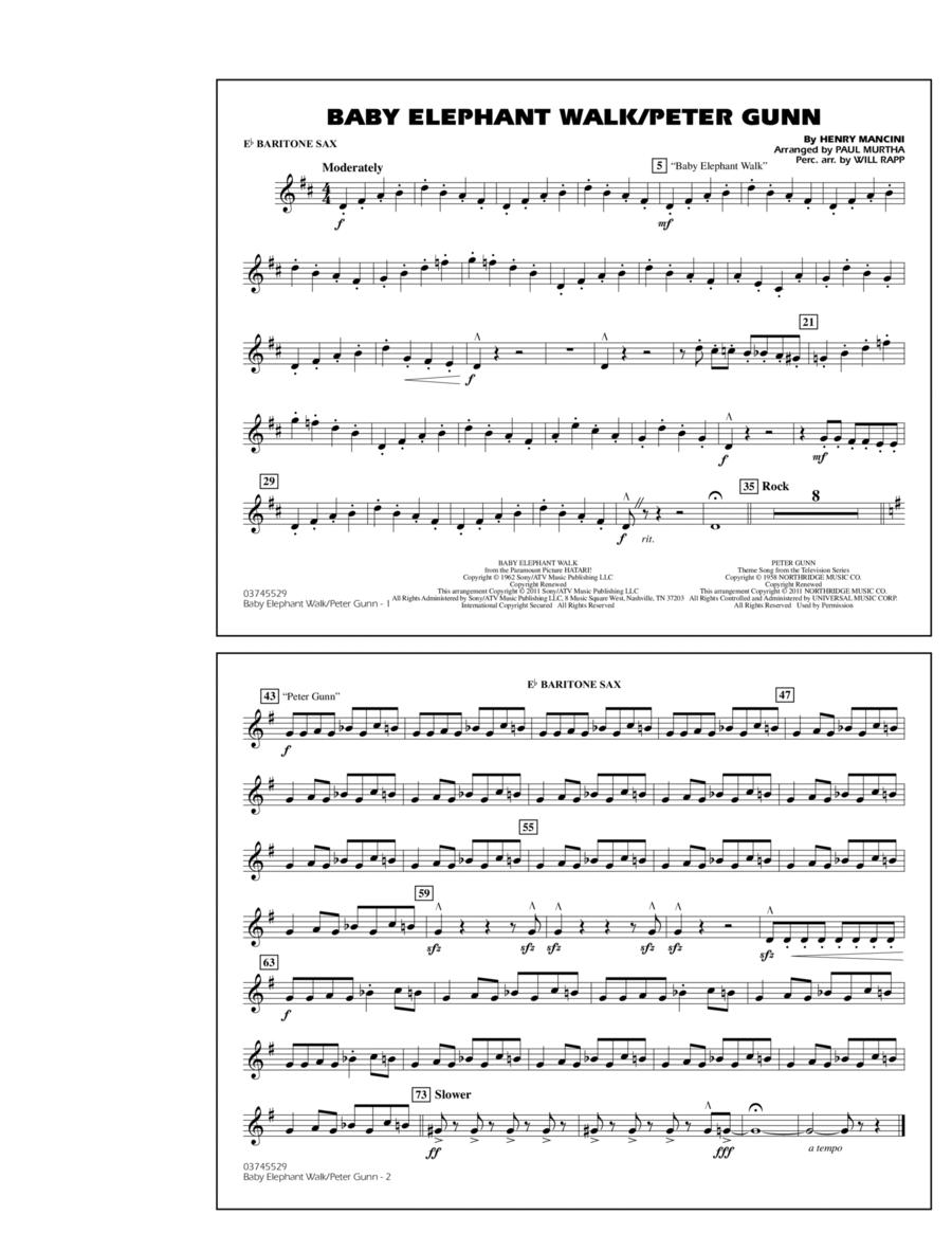Baby Elephant Walk/Peter Gunn - Eb Baritone Sax