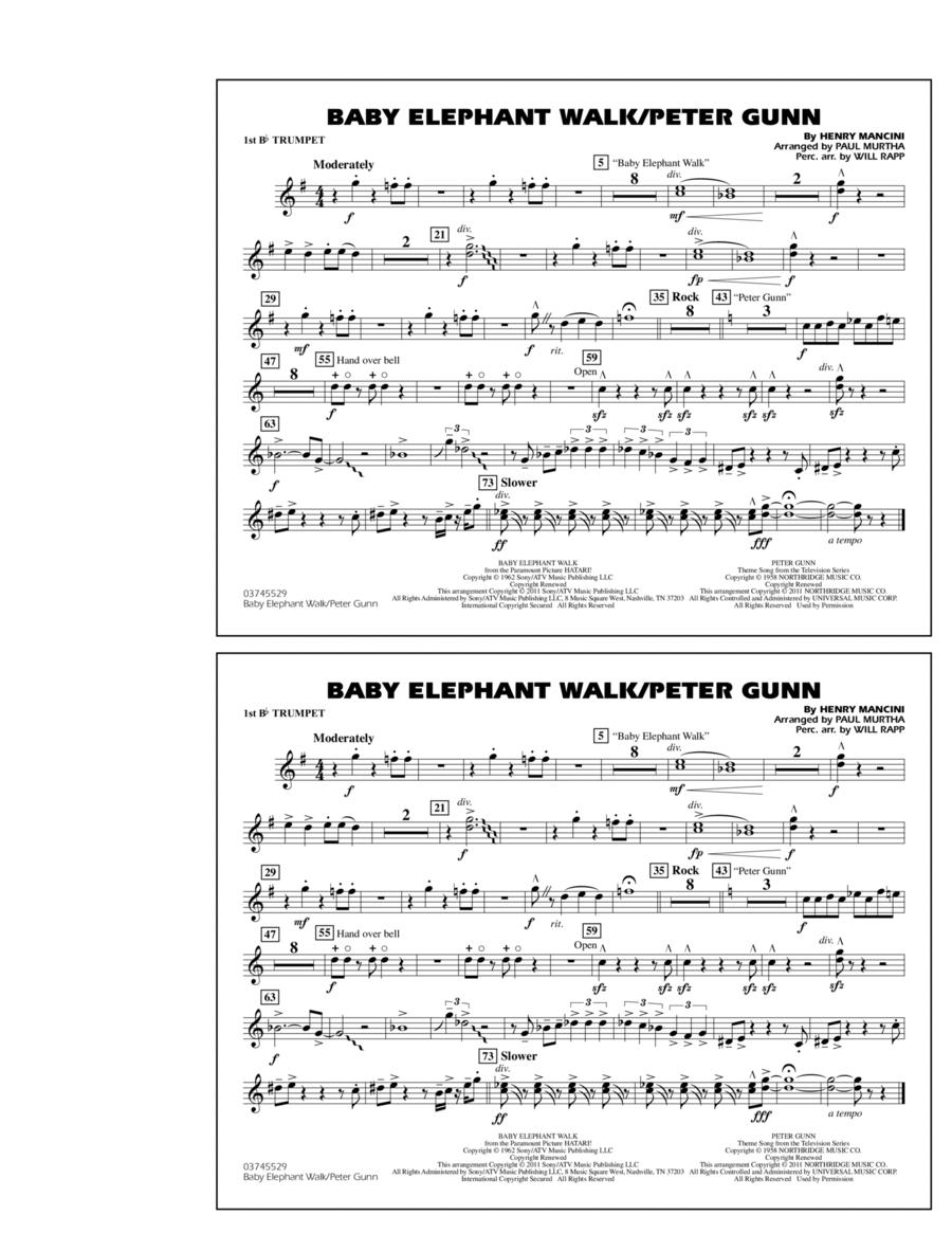 Baby Elephant Walk/Peter Gunn - 1st Bb Trumpet