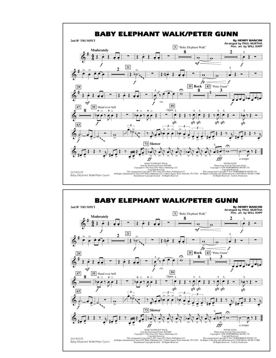 Baby Elephant Walk/Peter Gunn - 2nd Bb Trumpet
