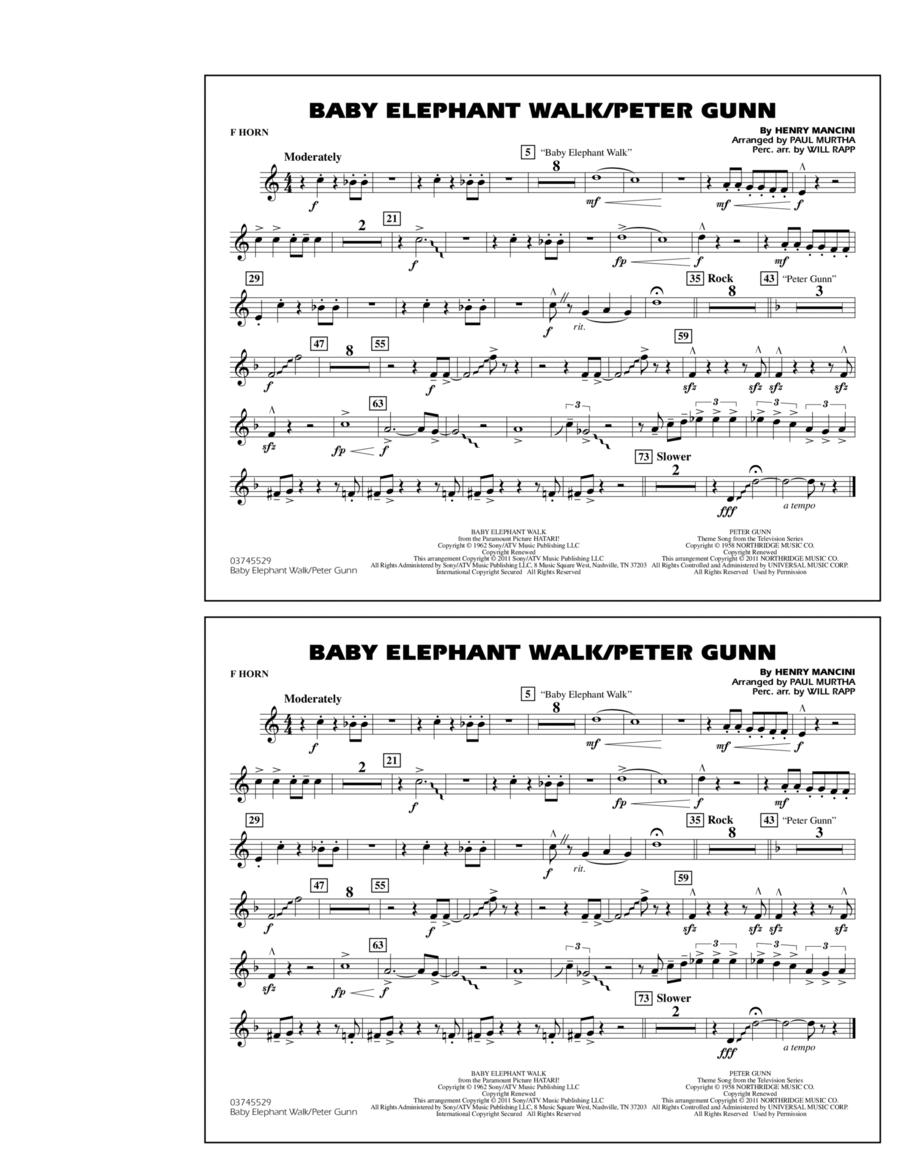 Baby Elephant Walk/Peter Gunn - F Horn