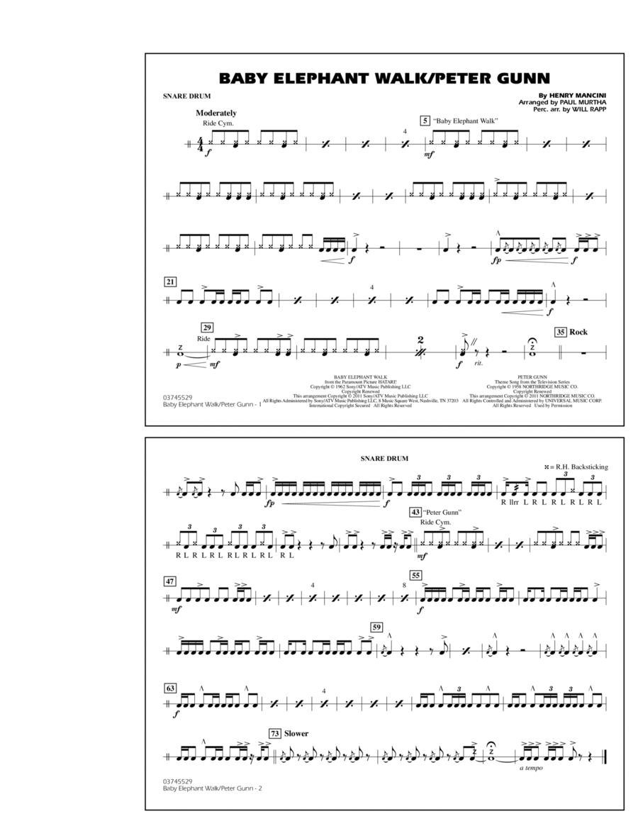 Baby Elephant Walk/Peter Gunn - Snare Drum
