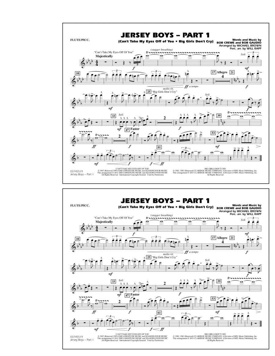 Jersey Boys: Part 1 - Flute/Piccolo