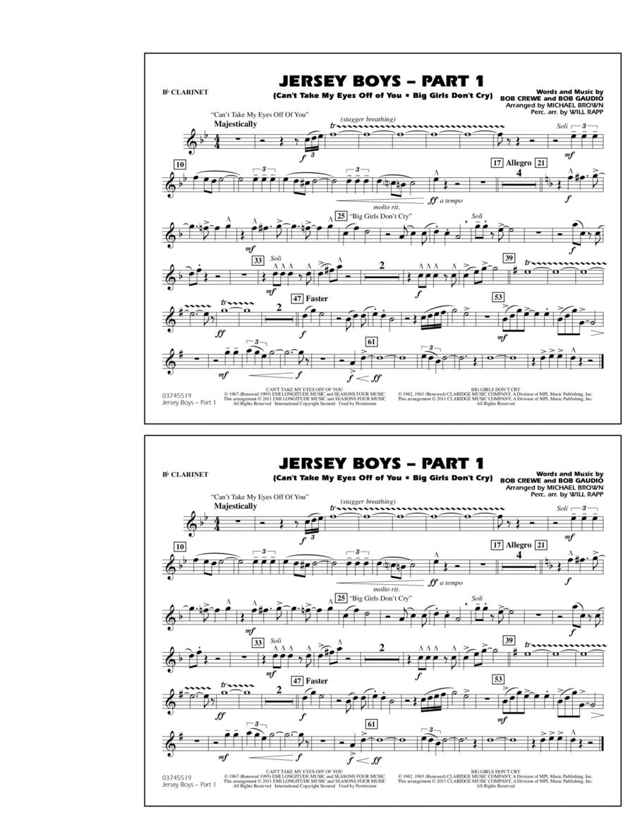 Jersey Boys: Part 1 - Bb Clarinet