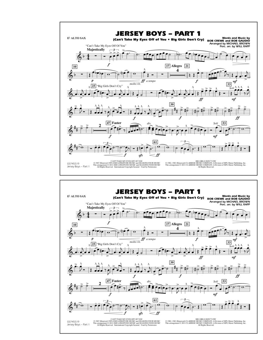 Jersey Boys: Part 1 - Eb Alto Sax