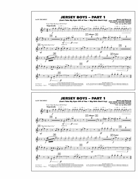 Jersey Boys: Part 1 - 1st Bb Trumpet
