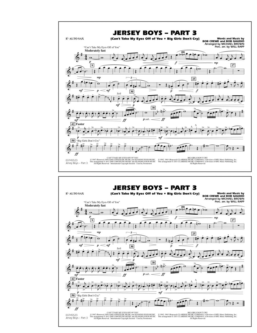 Jersey Boys: Part 3 - Eb Alto Sax