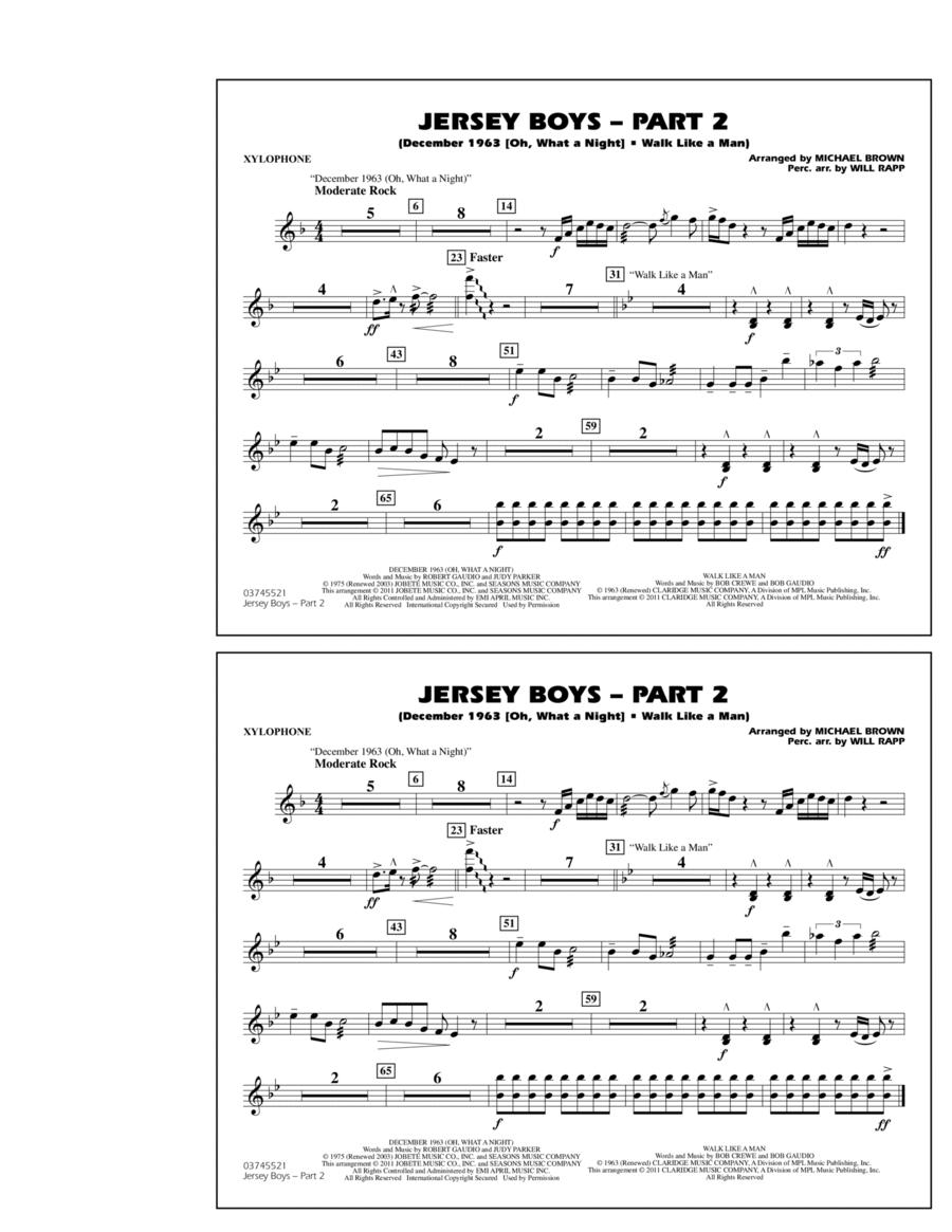 Jersey Boys: Part 2 - Xylophone
