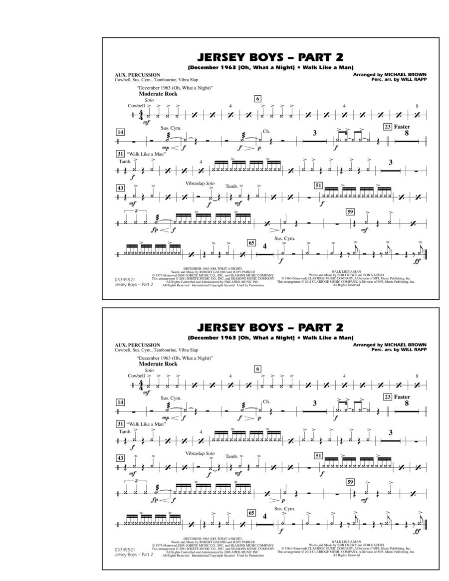 Jersey Boys: Part 2 - Aux Percussion