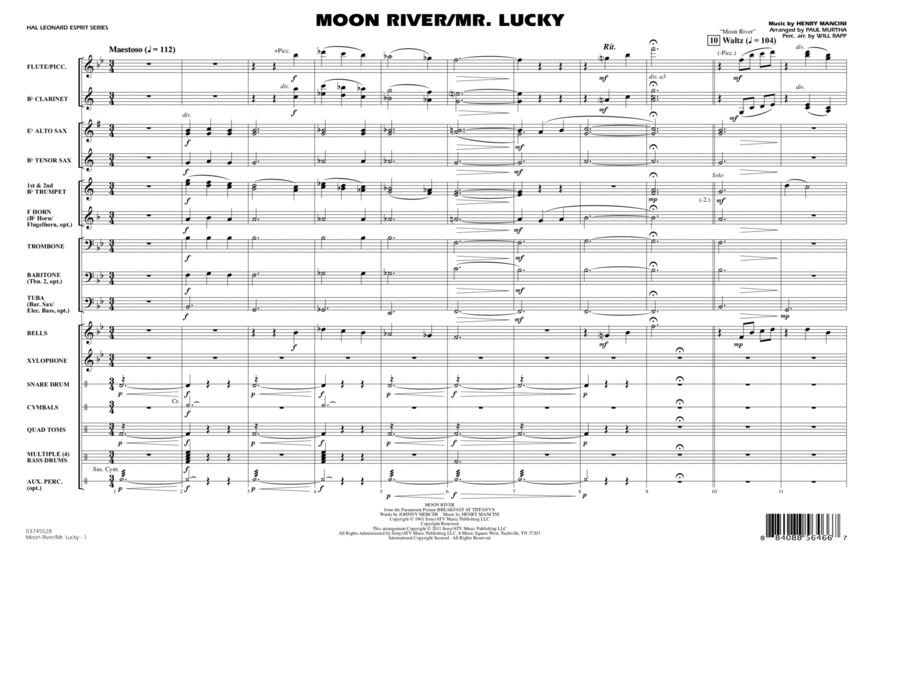 Moon River/Mr. Lucky - Full Score