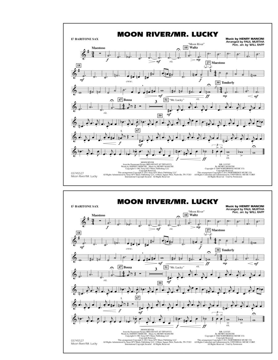 Moon River/Mr. Lucky - Eb Baritone Sax