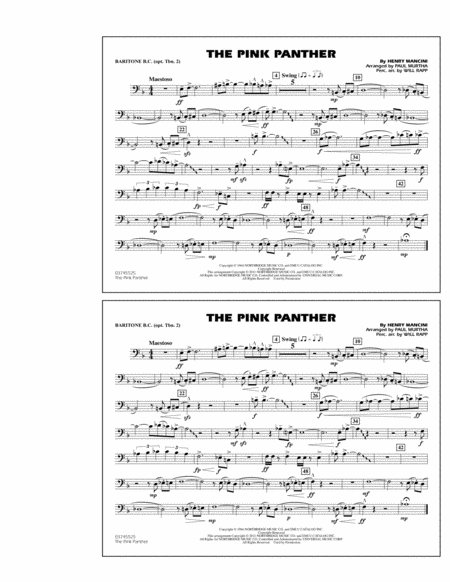 The Pink Panther - Baritone B.C. (Opt. Tbn. 2)