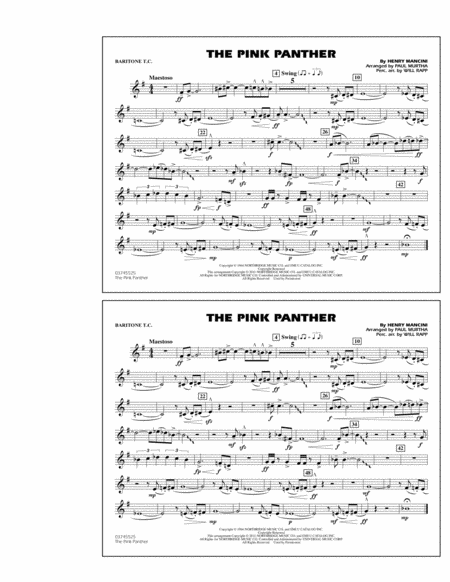 The Pink Panther - Baritone T.C.