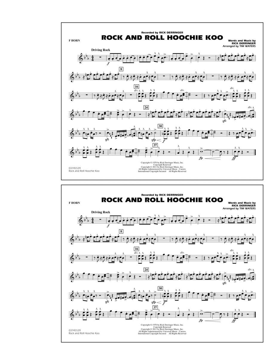 Rock And Roll Hoochie Koo - F Horn