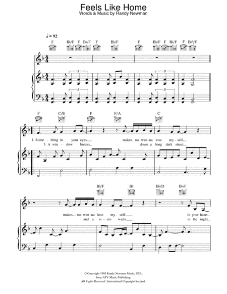 download feels like home sheet music by bonnie raitt sheet music plus. Black Bedroom Furniture Sets. Home Design Ideas