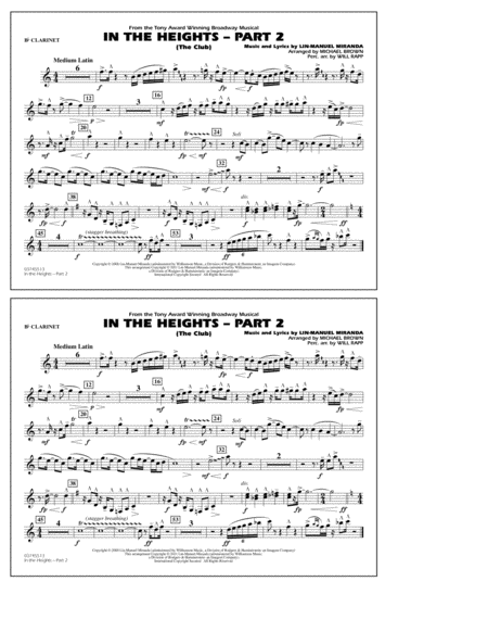 In The Heights: Part 2 (The Club) - Bb Clarinet