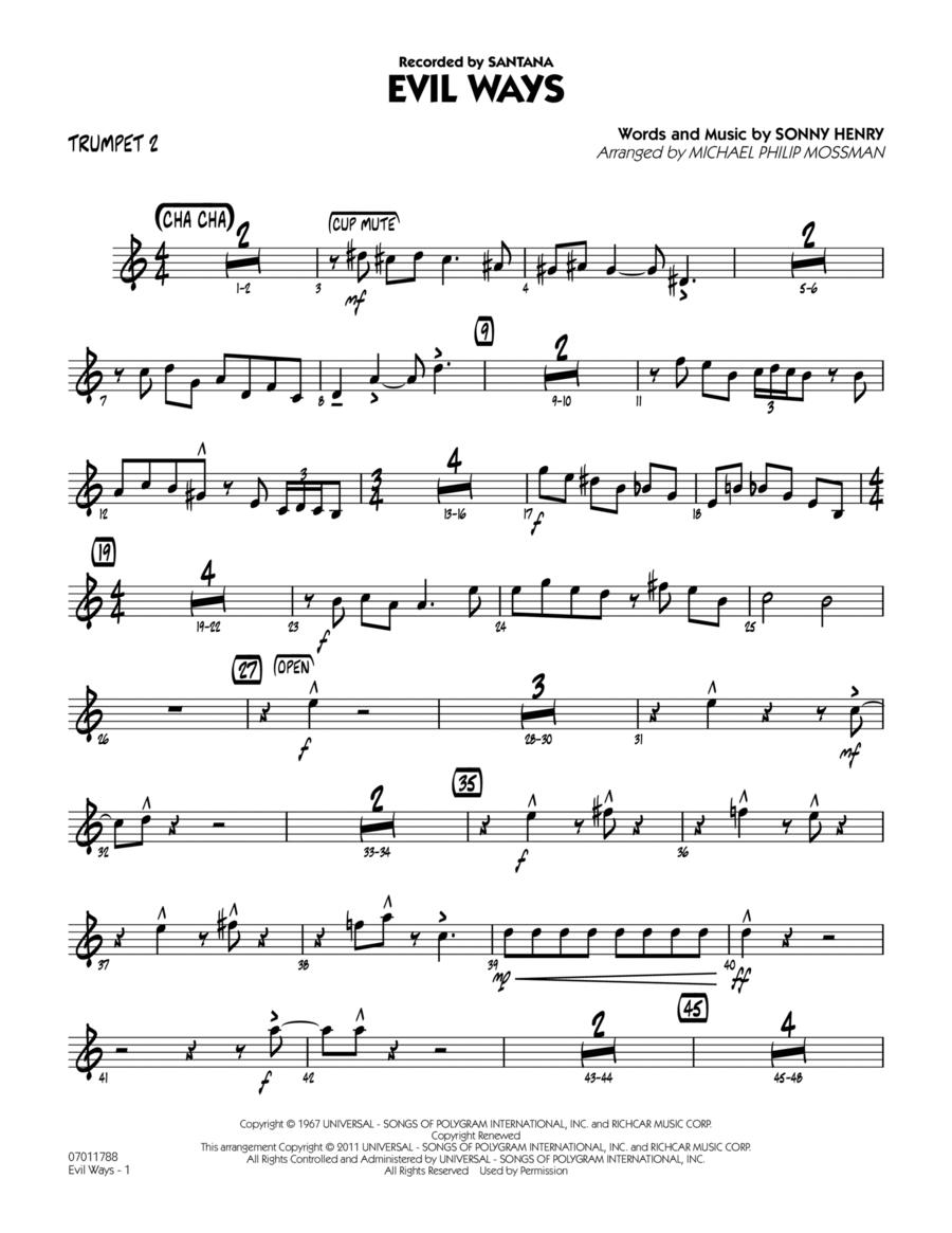 Evil Ways - Trumpet 2