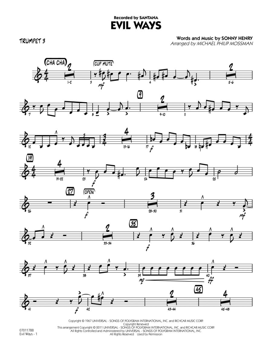 Evil Ways - Trumpet 3