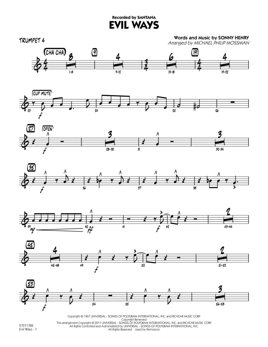 Evil Ways - Trumpet 4