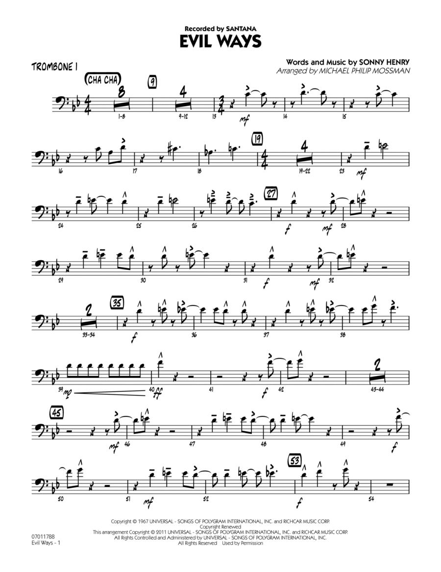 Evil Ways - Trombone 1