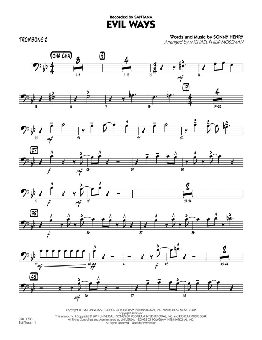 Evil Ways - Trombone 2