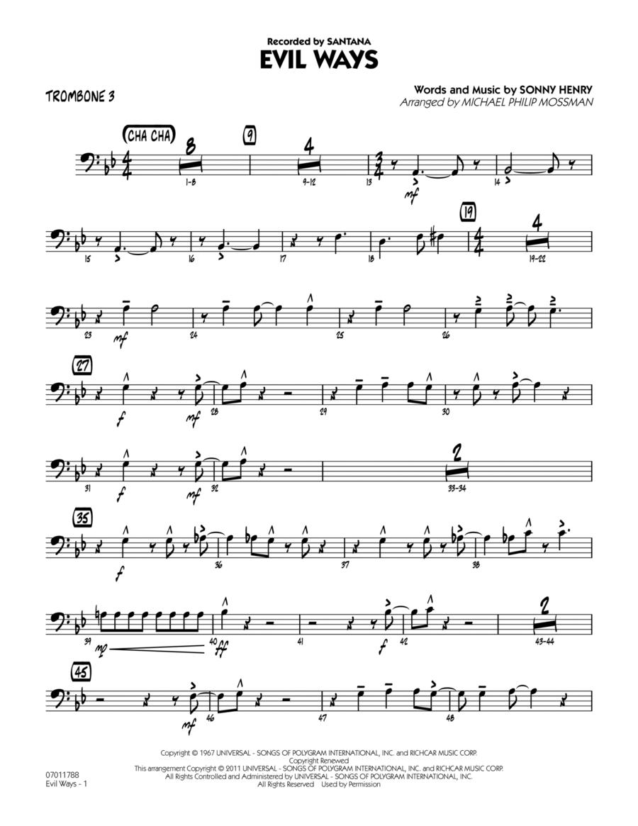 Evil Ways - Trombone 3