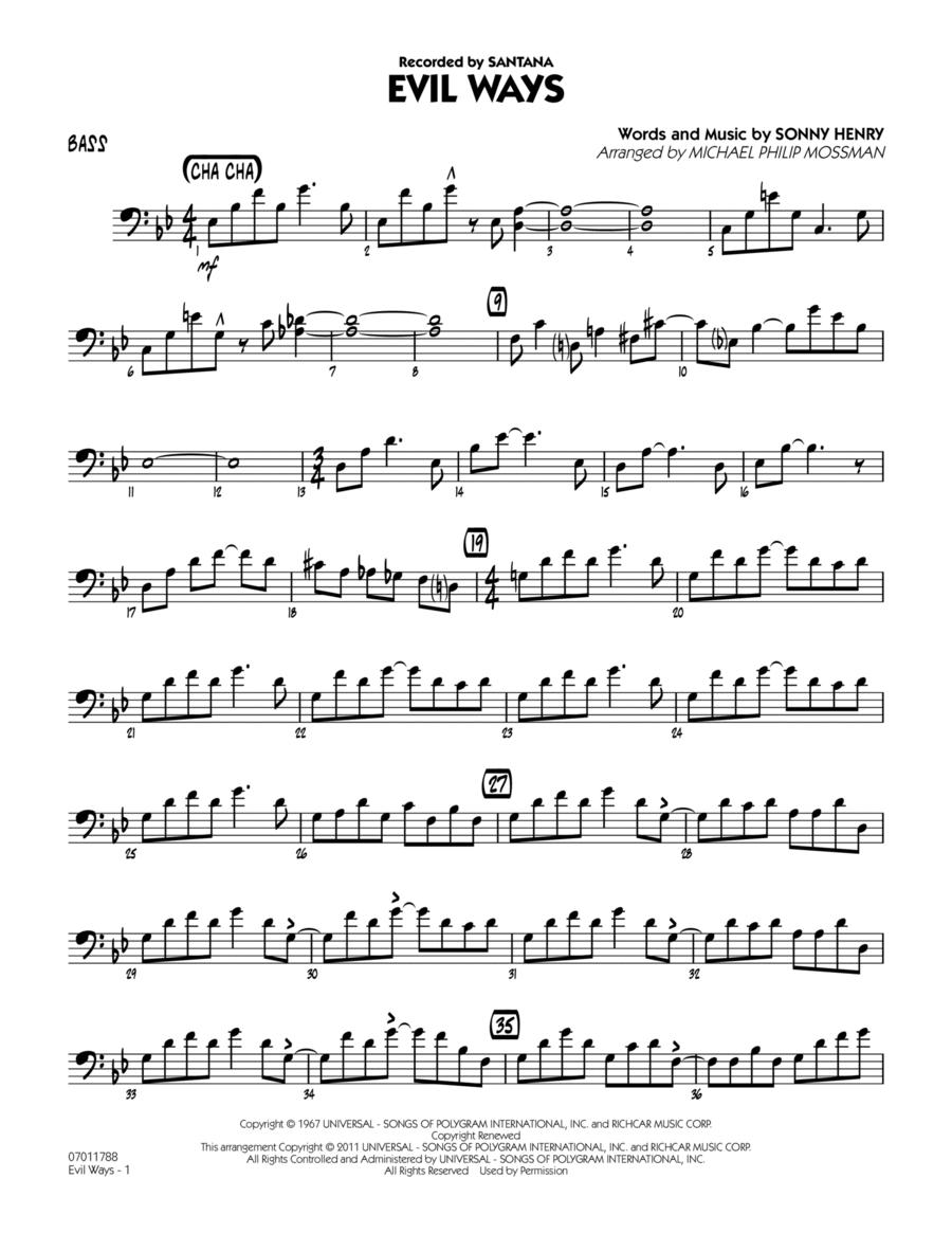 Evil Ways - Bass