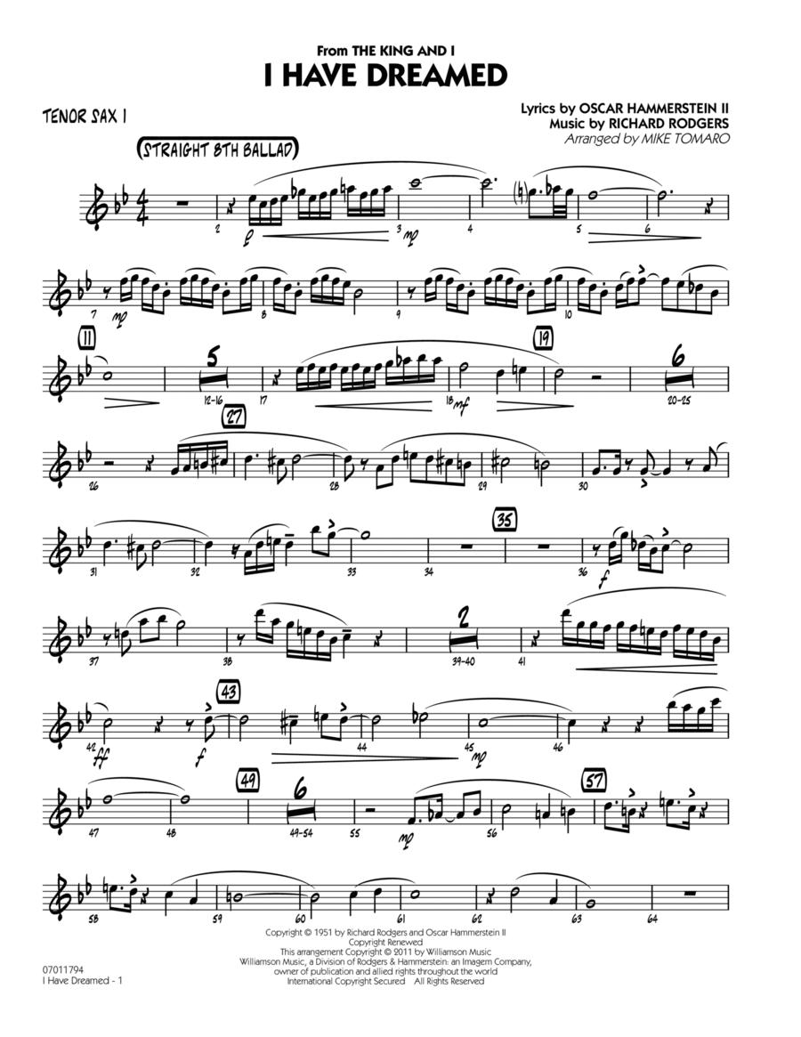 I Have Dreamed - Tenor Sax 1