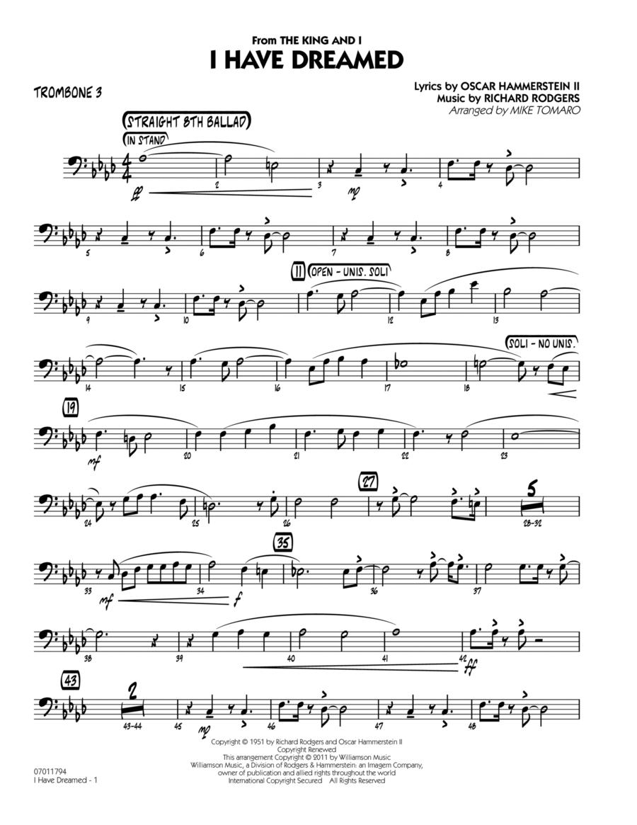 I Have Dreamed - Trombone 3