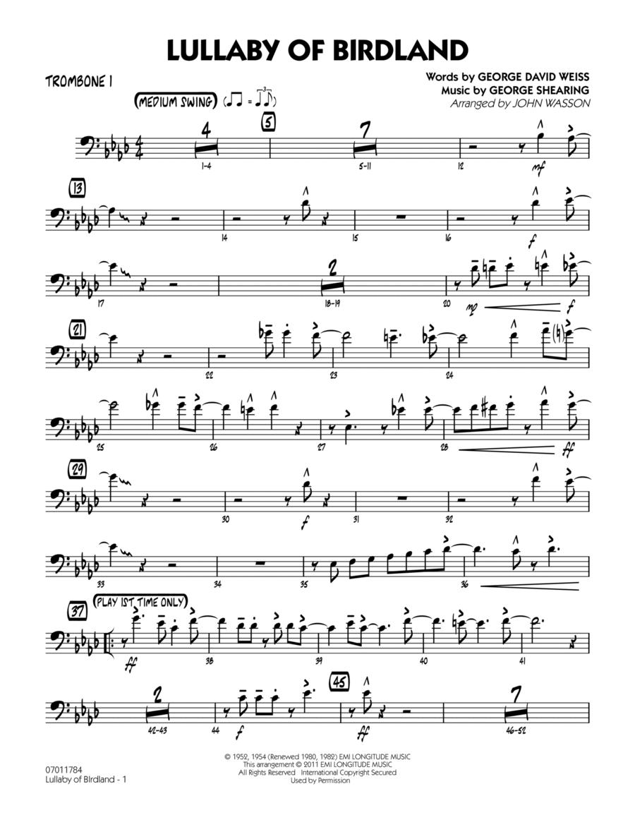 Lullaby Of Birdland - Trombone 1