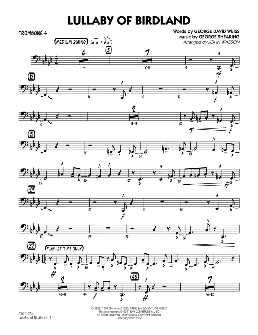 Lullaby Of Birdland - Trombone 4