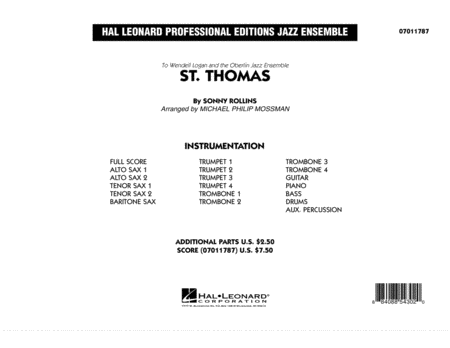St. Thomas - Conductor Score (Full Score)