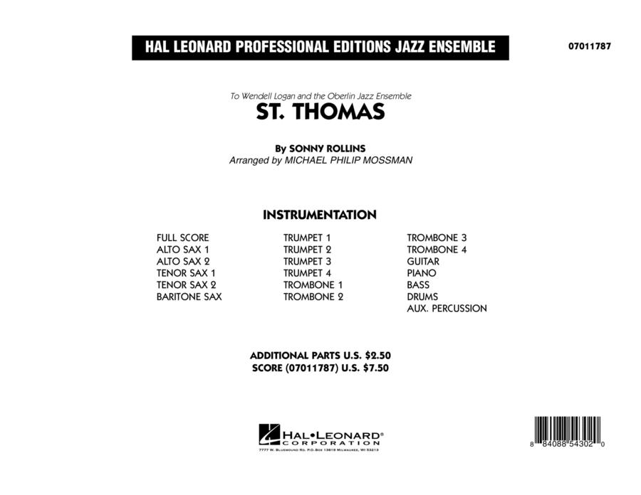 St. Thomas - Conductor Score (Full Score)
