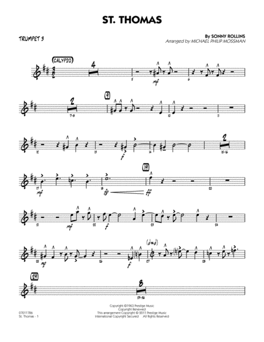 St. Thomas - Trumpet 3