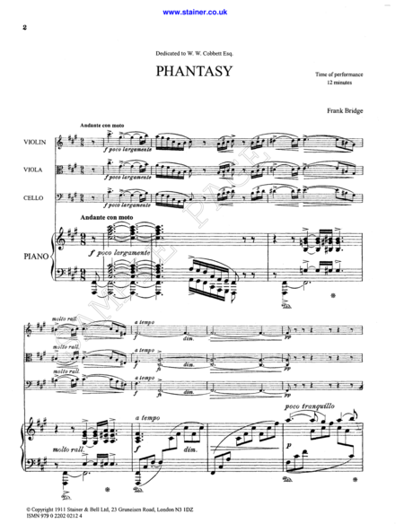 Phantasy in F sharp minor