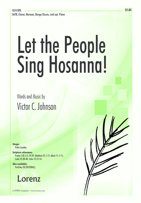 Let the People Sing Hosanna!